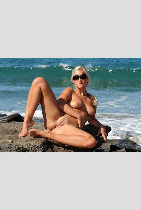 Download photo 1680x1050, marry queen, miela a, blonde, seaside, rocks, boobs, tits, shaved ...