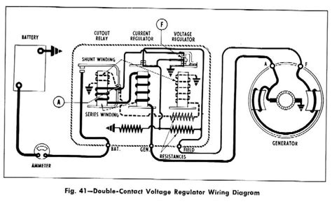 voltage regulator wiring diagram chevy double contact voltage regulator wiring diagram for the 1958 chevrolet passenger car truck and