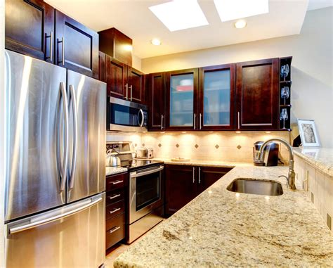 accentuate small kitchens  dark cabinets los angeles