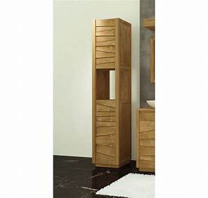 Meuble Salle De Bain Promo Destockage : colonne de salle de bain teck massif groovy mobilier de salle de bain meubles bois ~ Teatrodelosmanantiales.com Idées de Décoration