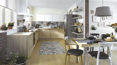 cuisine ac plus cuisine équipée scandinave en l bois marron