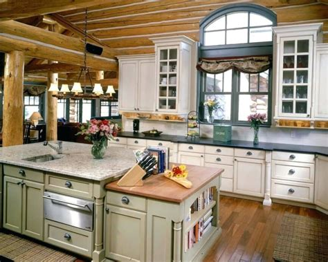 cabin style kitchen cabinets
