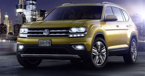 volkswagen suv volkswagen unveils new 2018 atlas its largest suv for u s