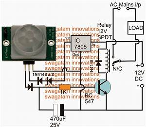 4 Simple Motion Detector Circuits Using Pir