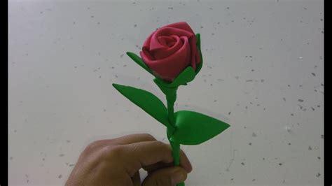manualidades: rosa de goma eva paso a paso (rose foamy