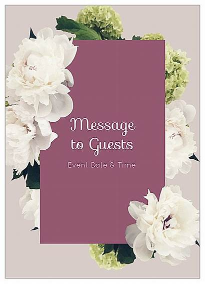 Invitation Templates Template Flowers Cards Use Easy