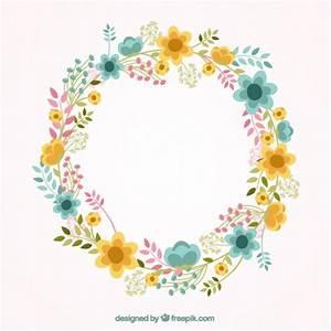 Lovely floral frame Vector | Free Download