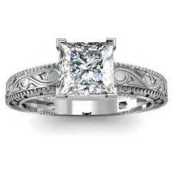 vintage princess cut engagement rings engagement rings vintage