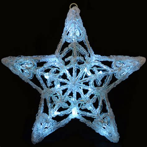 Mains Operated Light Up Christmas Star Snowflake