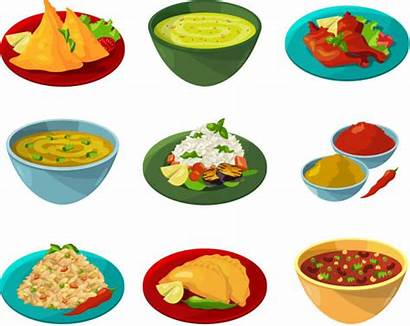 Indian Vector Illustrations Clip Cuisine National Graphics