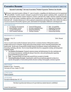 Executive resume template latest information for Executive cv