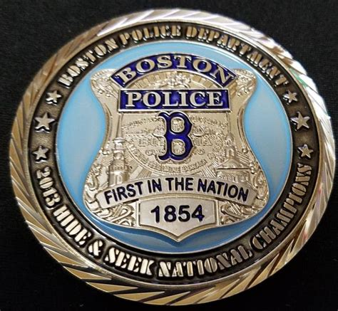 Boston Ma Police Department Challenge Coin 2013 Hide And