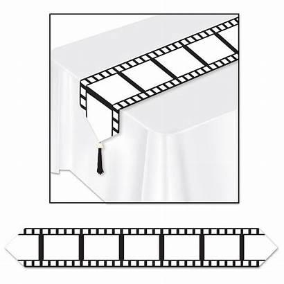 Filmstrip Tafelloper 1001feestartikelen Runner Printed Hollywood Open