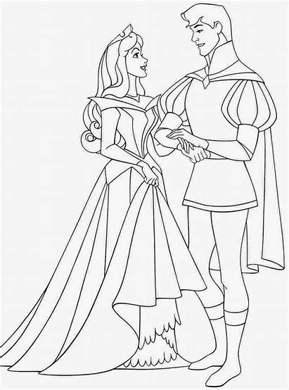 Aurora Coloring Princess Pages Disney Printable Sleeping