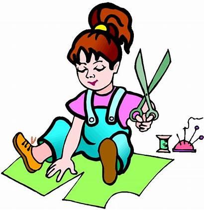 Clipart Handicraft Cartoon Crafts Making Person Clipground