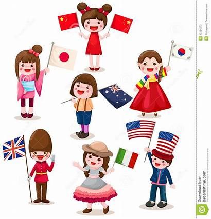 Flag Clipart Holding Children International Flags Childrens