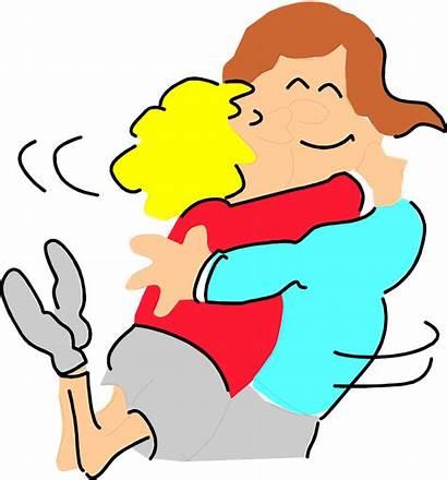 Hugging Transparent Clipart Hug Cartoon Clipground Showing