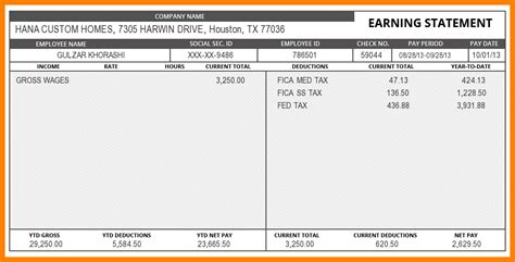 Free Pay Stub Template With Calculator 7 Free Pay Stub Template With Calculator Pay Stub Format