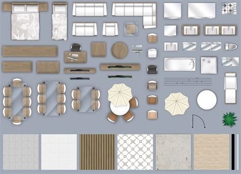 furniture floorplan top  view psd  cgtrader
