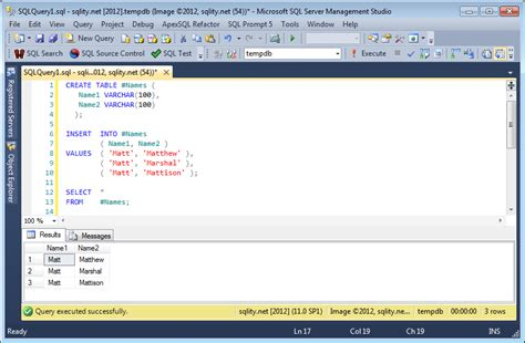 sql insert into new table insert multiple rows into temp table with sql server 2012