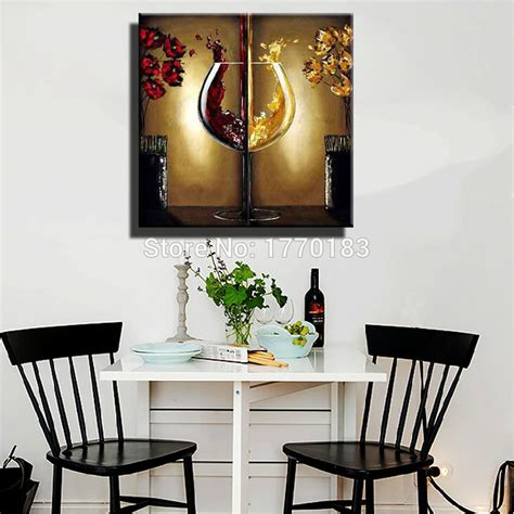 cheap kitchen wall decor ideas painting and decorating pictures picture more detailed picture about the wine glass