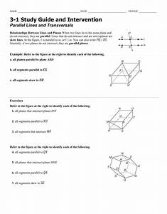 3 1 Parallel Lines And Transversals Worksheet Answers