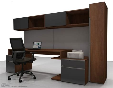 Office Desk With Bookcase by Nex Modern Executive Office Desk With Low Storage