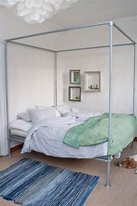 15 beds made from pipe to give your apartment industrial With diy canopy bed from pvc pipes