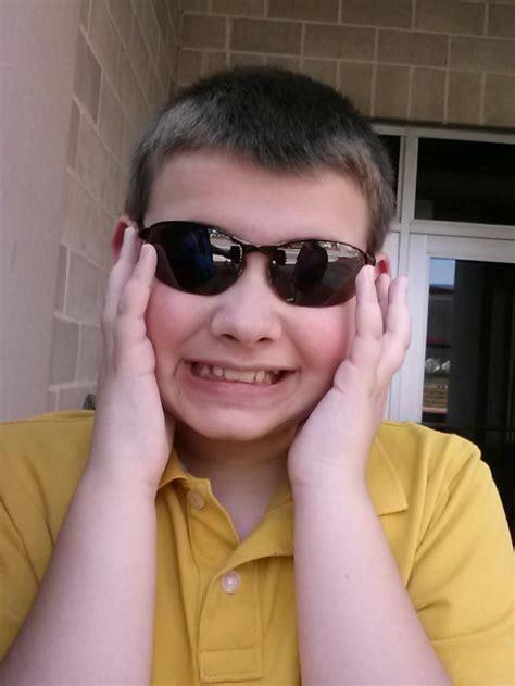 alex enjoying  sunglasses
