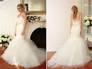 drop waist tulle mermaid wedding dress with rhinestone With tulle mermaid wedding dress