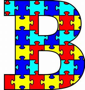 the gallery for gt pink polka dot letter r With puzzle piece letters