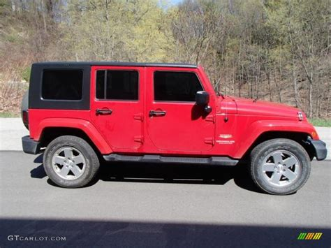 jeep sahara red 2010 flame red jeep wrangler unlimited sahara 4x4