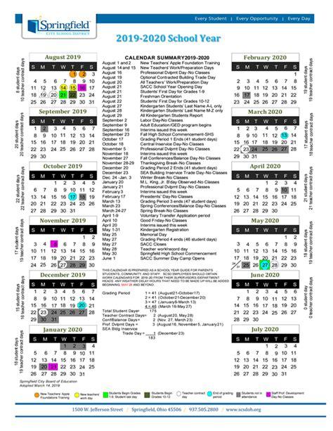 calendar school calendar