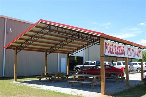 Steel Pole Barn Kits by Open Shelter And Fully Enclosed Metal Pole Barns Smith Built