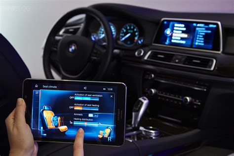 bmw introduces  touch command feature   samsung tablet