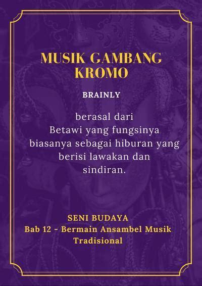 Jelaskan fungsi musik tradisional sebagai sarana komunikasi! sebutkan 10 jenis musik, asal daerah, nama upacara adat,dan fungsi musik dalam upacara - Brainly ...