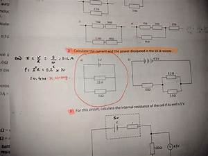 Work Out Current In One Resistor  1 Circuit  2 Resistors
