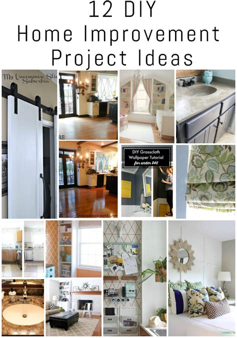 12 Diy Home Improvement Project Ideas {the Diy Housewives