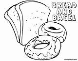 Bread Coloring Pages Colorings sketch template