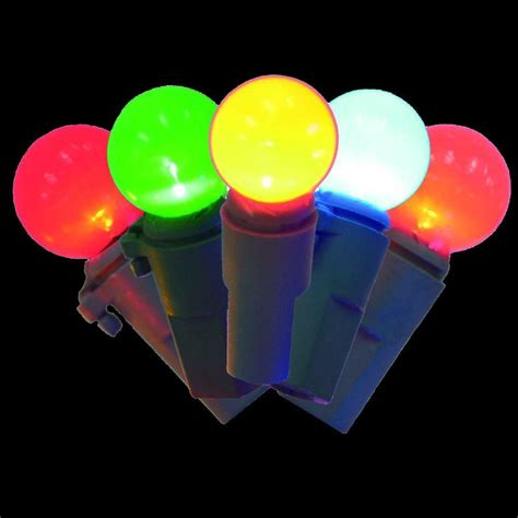christmas light spheres home depot home accents holiday 100 light led multi color faceted c6