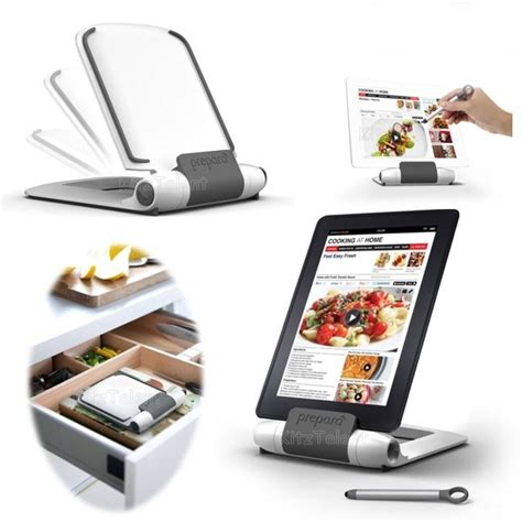 kitchen cookbook tablet stand holder  stylus fold