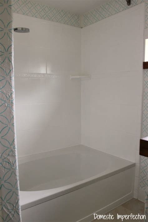 refinish outdated tile   painted  shower
