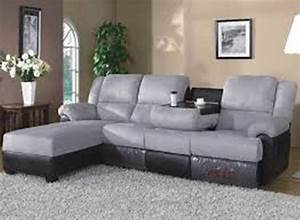 Reclining sofa chaise couch with chaise and recliner for Sectional sofas with 4 recliners