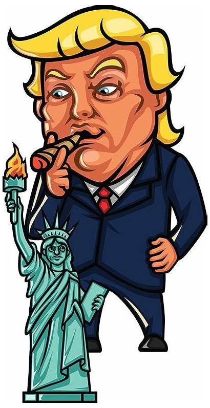Trump Donald Cartoons Cartoon Clipart Liberty Happy