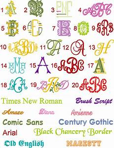 best embroidery fonts 2017 2018 best cars reviews With best monogram fonts