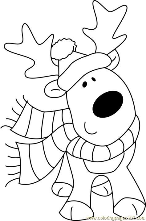 christmas cute deer coloring page  christmas animals coloring pages coloringpagescom