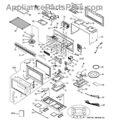 parts  ge emocss microwave parts appliancepartsproscom