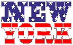 Wandtattoo New York Schriftzug Amerika Fahne www melis folienwerkstatt de