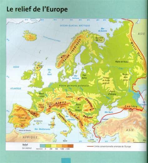 Carte Des Reliefs De à Compléter by Le Relief De L Europe Carte Vierge My