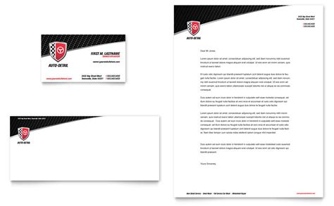auto detailing business card letterhead template word